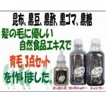 【送料無料】育毛シャンプー、コンデショナー、エッセンス 3点セット